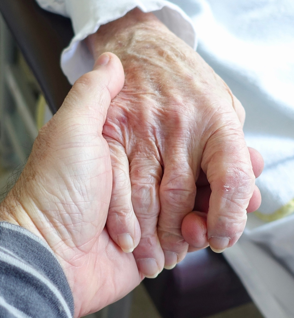 hand, aged, care